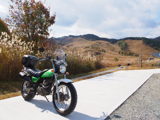 山も赤く燃える秋、ススキの砥峰高原ツーリング2015@兵庫県神河町