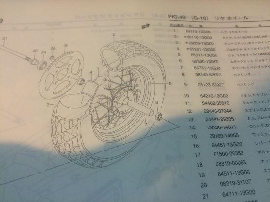 バイクの純正のホイールの値段っていくら?【バンバン200】