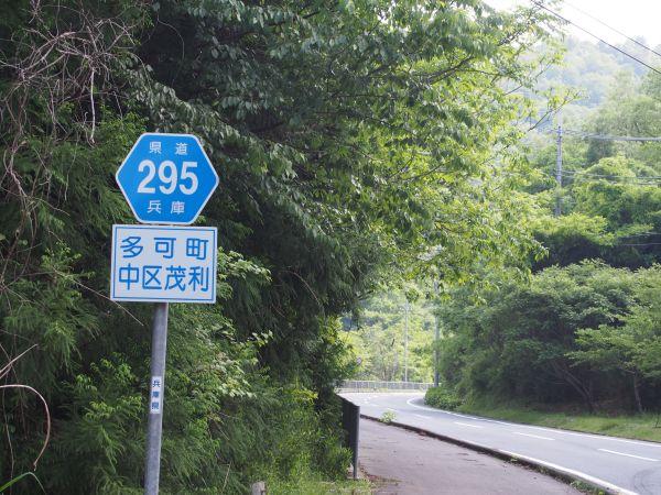 県道295を走って、北上