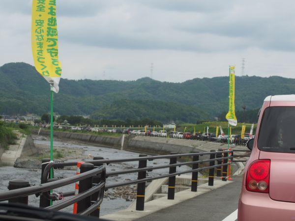 ひまわり畑までの駐車場