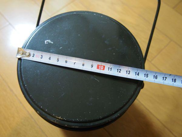 丸型飯盒の大きさ