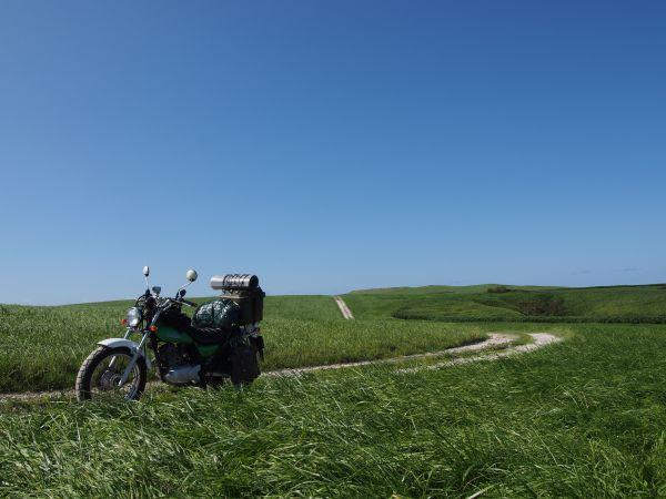 バイクで行ける白い貝殻の道
