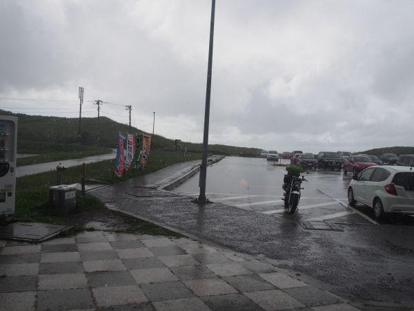 土砂降りの雨・・