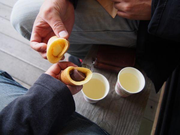 あんまきと柚ジュース