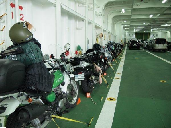 バイク乗船