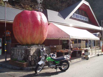 やっとりんごの前で撮れた♪ in 道の駅 はが