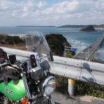 冬の九州ツーリング【2日目・九州上陸、海に続く角島大橋を走る】