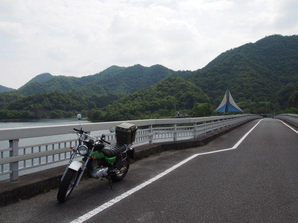 翠大橋の途中で停車できる