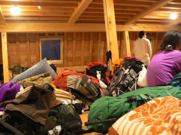 荷物がいっぱい