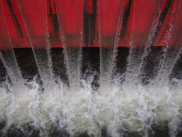 水の流れが綺麗