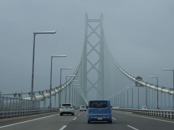豪快に橋が見えるね