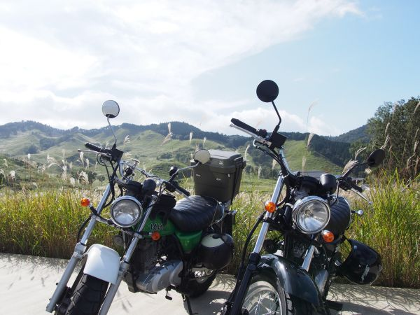 砥峰高原・バイク駐輪代200円