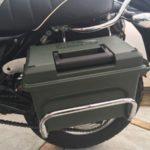 バイクにサイドボックスを取り付ける作戦(4)ステー(仮)取付【バンバン200】