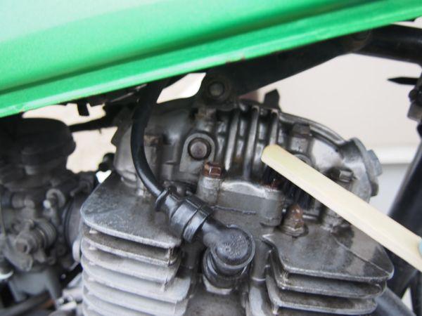 バイクのエンジン塗装