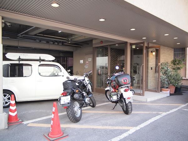 ホテルメイトの駐輪場@鹿児島